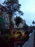 Bruges pelo crepúsculo foto de stock