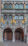 Bruges - The portal of the Basilica of holy blod. Royalty Free Stock Photo