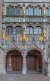 Bruges - portal bazylika święty blod Zdjęcie Royalty Free