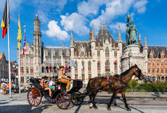Bruges, Provinciaal Hof, Belgique image libre de droits