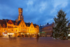 Bruges przy bożymi narodzeniami obraz stock