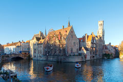 Bruges. Quay of the rosary. Stock Photo
