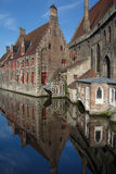 Bruges quiet canal Royalty Free Stock Photos