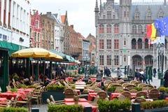 Bruges restauracja, Belgia Zdjęcie Royalty Free