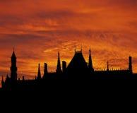 Bruges roofs sunrise Stock Images