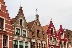 Bruges, row of gables, old town houses. Stock Images