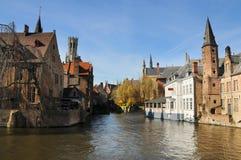 Bruges Rozenhoedkaai Stock Images