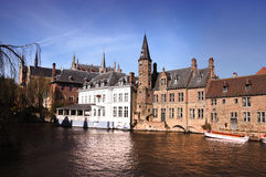 Bruges Rozenhoedkaai Royalty Free Stock Images