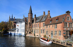 Bruges Rozenhoedkaai Royalty Free Stock Photo