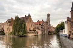 Bruges. Rozenhoedkaai, one of the landmarks in Bruges Royalty Free Stock Image