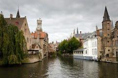 Bruges. Rozenhoedkaai, one of the landmarks in Bruges Royalty Free Stock Photo