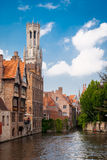 Bruges, Rozenhoedkaai (Quai of the Rosary) Stock Photos