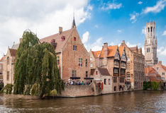 Bruges, Rozenhoedkaai (Quai of the Rosary) Stock Photo