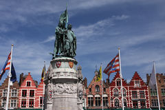 Bruges statue Royalty Free Stock Image