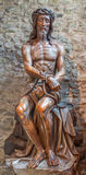 Bruges - Statue of Jesus in the bond in Basilica of the Holy bold. Stock Images