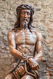 Bruges -Statue of Jesus in the bond  Stock Photography