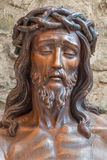 Bruges - Statue of Jesus in the bond  Royalty Free Stock Photos