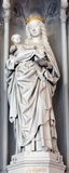 Bruges - Statue of Madonna  on the church Our Lady. Stock Photography