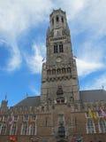 Bruges, torre de sino de Bruges foto de stock royalty free