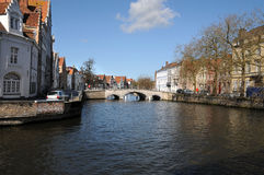 Bruges  town cannal Royalty Free Stock Image