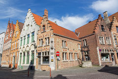 Bruges - Typically brick house from st. Jacobstraat street. Royalty Free Stock Photo