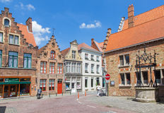 Bruges - Typically brick house from st. Jacobstraat street. Stock Images
