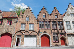 Bruges - Typically brick houses Stock Photos