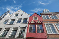 Bruges - Typically house from Breidelstraat street. Stock Photo