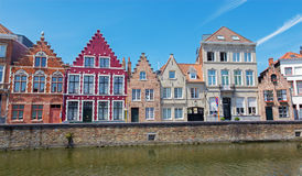 Bruges - typicaly house from Sint Annarei street. Stock Images