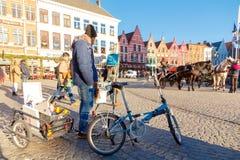 Bruges ulicy Zdjęcia Stock