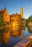 Bruges - View from the Rozenhoedkaai Stock Images