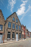 Bruges - vista dal Rozenhoedkaai Fotografia Stock Libera da Diritti