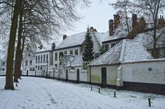Bruges in wintertime stock photo