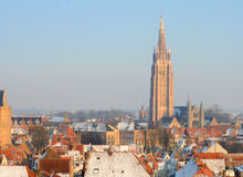 Bruges in winter Stock Photography