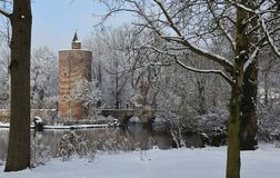 Bruges in wintertime royalty free stock photos