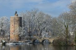 Bruges in wintertime stock photos