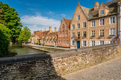 Bruges & x28;Brugge& x29; cityscape with water canal and bridge Royalty Free Stock Photos