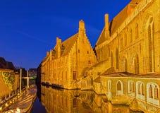 Brugge - больница St. John (Sint Janshospitaal) стоковое изображение rf