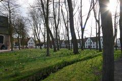 Brugge - Beguinage Stock Foto