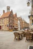 BRUGGE, BELGIË - APRIL 22: Stoep op de oude streptokok Stock Fotografie