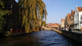 Brugge, België, beelden van de stad royalty-vrije stock fotografie