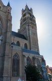 BRUGGE, BELGIË EUROPA - 25 SEPTEMBER: St Salvator Cathedra Royalty-vrije Stock Afbeelding