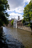 Brugge, Belgium. Medieval house on the canals of Bruges Stock Images