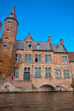 Brugge, Belgium. Medieval house on the canals of Bruges Stock Photos