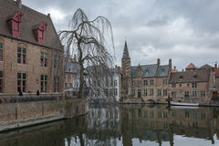 Brugge, Belgium. Bruges - Belgium jewel and one of the most romantic cities on earth Stock Image
