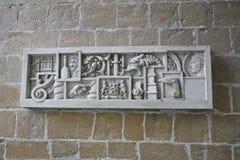 Brugge, Belgium. Brugge church emblem, Belgium, Europe Stock Photo