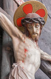 BRUGGE, BELGIUM - JUNE 12, 2014: The Crucifixion statue from st. Jocobs church Stock Image