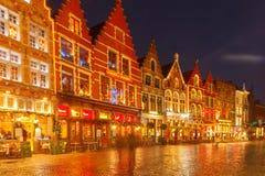 Brugge bij Kerstmis royalty-vrije stock foto's
