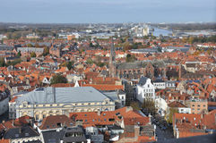 Brugge - birds eye view Stock Images