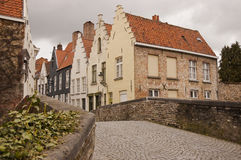 Brugge. / Bruges houses by canal Royalty Free Stock Photography